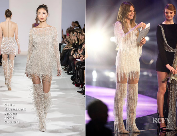 Heidi Klum In Celia Kritharioti Couture - Germany's Next Top Model Finals