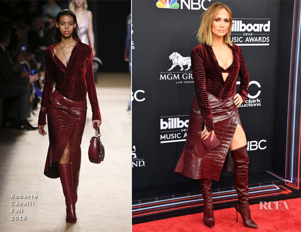 Jennifer Lopez In Roberto Cavalli - 2018 Billboard Music Awards