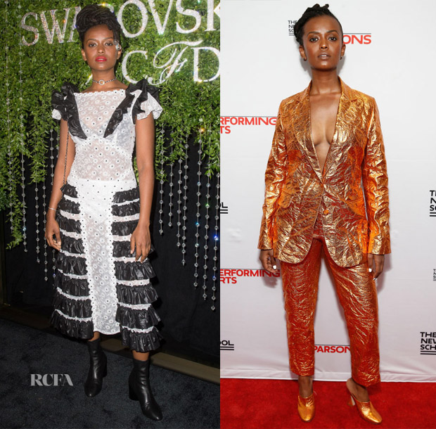 Kelela In Christopher Kane & Sies Marjan - 2018 CFDA/Swarovski Award Emerging Talent Cocktail Party & 70th Annual Parsons Benefit