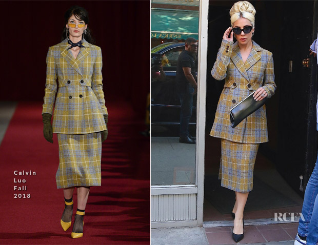 Lady Gaga In Calvin Luo & Christian Siriano - Electric Lady Studios & Rose Bar