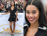 Laura Harrier In Louis Vuitton - 'Blackkklansman' Cannes Film Festival Photocall