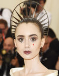 Get The Look: Lily Collins' Dramatic Sparkle-Accented Met Gala Beauty Look