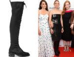 Marion Cotillard's Nicholas Kirkwood Casati Embellished Over-The-Knee Boots