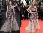 Nieves Alvarez In Elie Saab Couture - 'Sorry Angel (Plaire, Aimer Et Courir Vite)' Cannes Film Festival Premiere