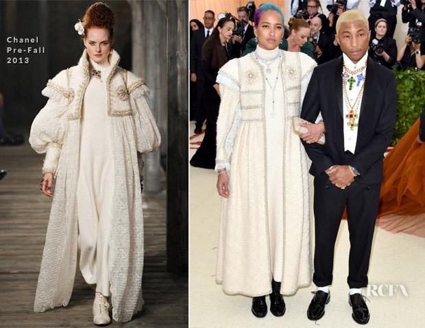 c85db2b1a Pharrell Williams   Helen Lasichanh In Chanel - 2018 Met Gala - Red ...