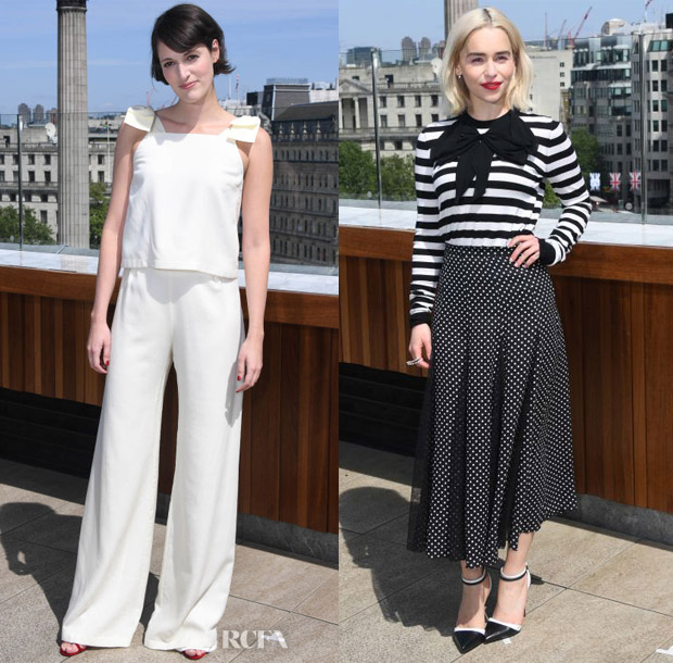 Phoebe Waller-Bridge In Mother of Pearl & Emilia Clarke In Michael Kors Collection - 'Solo: A Star Wars Story' London Photocall