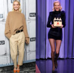Poppy Delevingne In Khaite & Balmain - Build Series & The Tonight Show Starring Jimmy Fallon