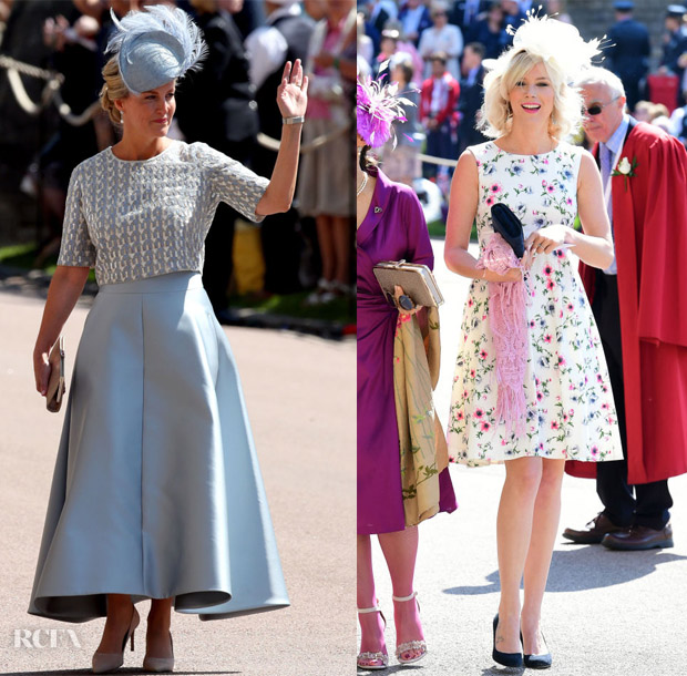 e739becf Sophie, Countess of Wessex: Showcasing soft structure, she was outfitted in  a silvery blue Suzannah ensemble with Jane Taylor hat. It's timeless but  also ...