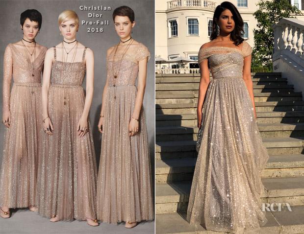 Priyanka Chopra In Christian Dior Royal Wedding Reception Red