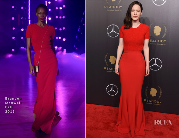 Rachel Brosnahan In Brandon Maxwell - 77th Annual Peabody Awards Ceremony