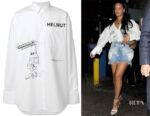 Rihanna's Helmut Lang  Index Oversized Shirt