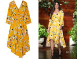 Sandra Bullock's DVF Eloise Floral-Print Dress