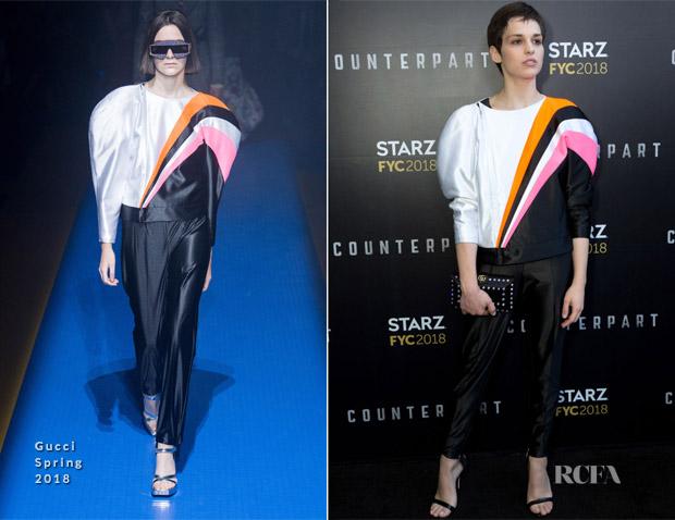 Sara Serraiocco In Gucci - STARZ 'Counterpart' FYC Event