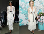Sarah Paulson In Brock Collection - Tiffany & Co. Paper Flowers Event And Believe In Dreams Campaign Launch