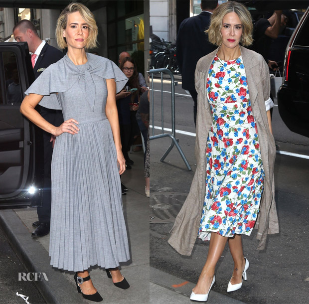Sarah Paulson In Co & Michael Kors Collection - 'Ocean's 8' Press Junket