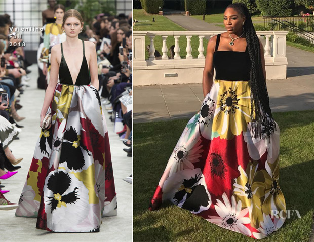 Serena Williams In Valentino - Royal Wedding Reception