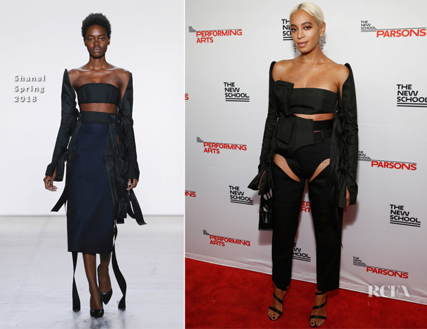 Solange Knowles In Shanel & Y/Project - The 70th Annual Parsons Benefit