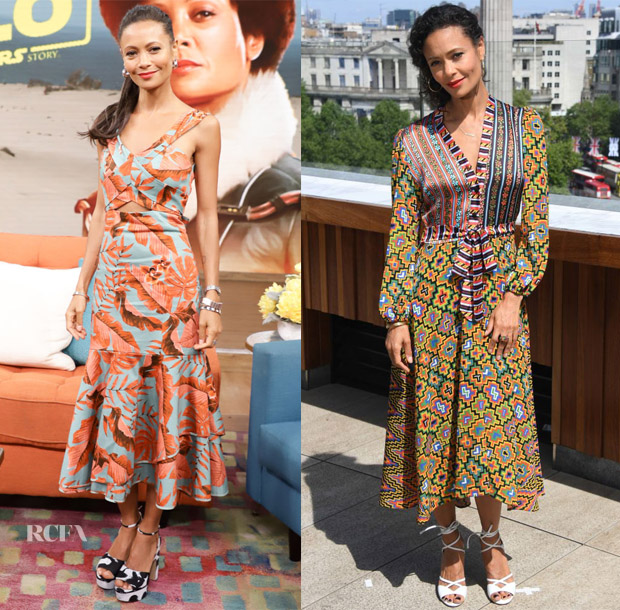 Thandie Newton In Johanna Ortiz & Duro Olowu - Despierta America & Solo: A Star Wars Story' Photocall