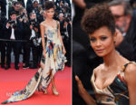 Thandie Newton In Vivienne Westwood Couture for  The Green Carpet Challenge - 'Solo: A Star Wars Story' Cannes Film Festival Premiere