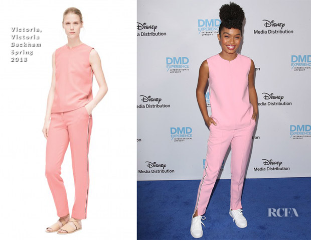 Yara Shahidi In Victoria, Victoria Beckham - Disney/ABC International Upfronts