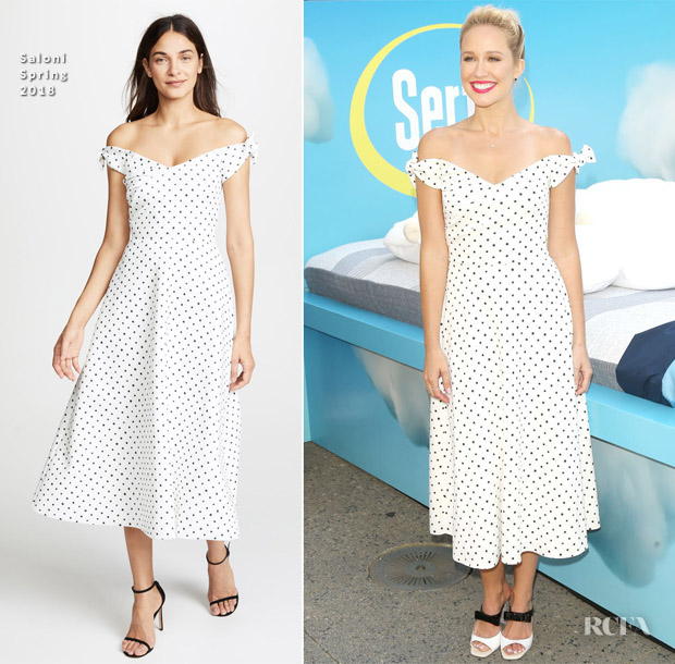 Anna Camp In Saloni - Serta Mattress Announcement