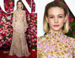Carey Mulligan In Giambattista Valli - 2018 Tony Awards