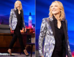Cate Blanchett In Saint Laurent - The Late Late Show with James Corden