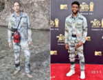 Chadwick Boseman In Off-White - 2018 MTV Movie And TV Awards