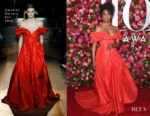 Condola Rashad In Carolina Herrera - 2018 Tony Awards