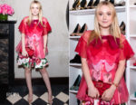 Dakota Fanning In Dolce & Gabbana - Roger Vivier '#Love Vivier' Book Launch
