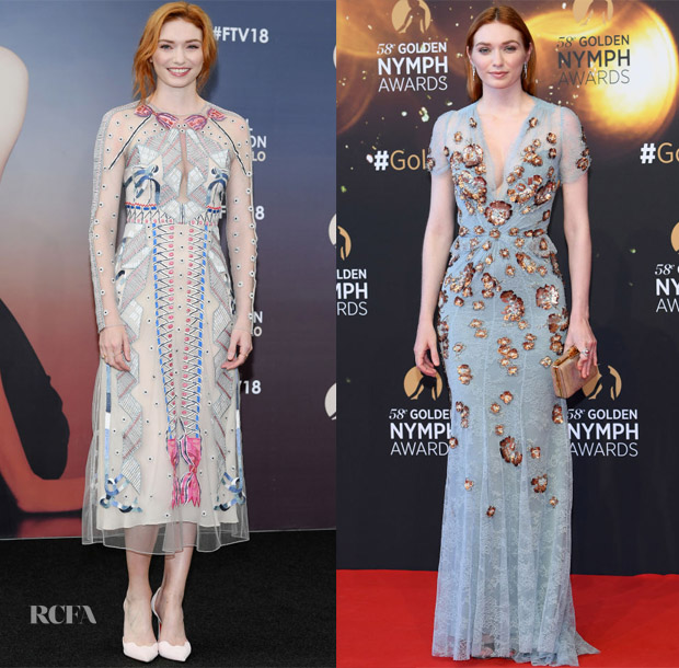 Eleanor Tomlinson In Temperley London & Jenny Packham - Monte Carlo TV Festival