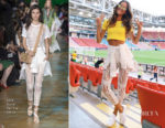 Izabel Goulart In Elie Saab - 2018 FIFA World Cup