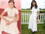 Jenna Coleman In Emilia Wickstead - Cartier Queen's Cup Polo
