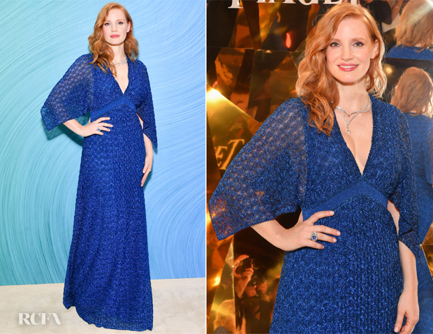 Jessica Chastain In Missoni - Piaget's 'Sunlight Escape' High Jewellery Collection Launch