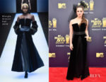 Katherine Langford In Giorgio Armani - 2018 MTV Movie And TV Awards