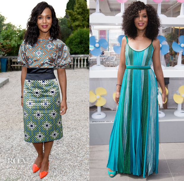 Kerry Washington In Mary Katrantzou & Missoni - Cannes Lions 2018