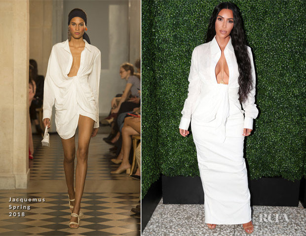 Kim Kardashian In Jacquemus & Rick Owens - BoF West Summit & KKW Beauty and Fragrance Pop-Up Opening