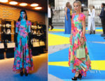 Laura Bailey In Christopher Kane - Royal Academy Of Arts Summer Exhibition Preview