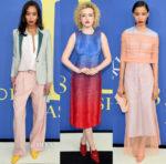 Laura Harrier, Julia Garner & Lineisy Montero In Sies Marjan - 2018 CFDA Fashion Awards