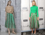 Leslie Bibb In Vika Gazinskaya - Build Series: 'Tag'