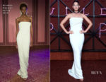 Lily Aldridge In Brandon Maxwell - Bvlgari Dinner & Party