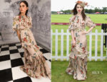 Lily Collins In Johanna Ortiz - Cartier Queen's Cup Polo