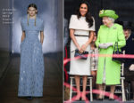 Meghan, Duchess Of Sussex In Givenchy Haute Couture - Mersey Gateway Bridge Opening