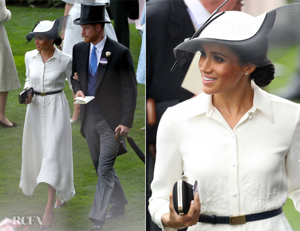 Meghan Duchess Of Sussex In Givenchy Royal Ascot 2018