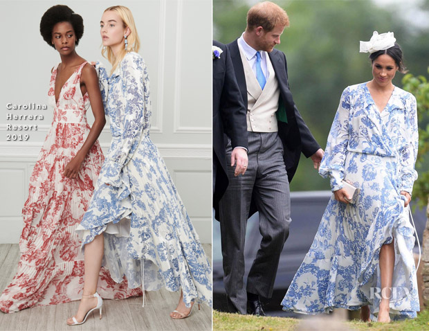 meghan duchess of sussex in oscar de la renta lady kitty spencer in dolce gabbana countess spencer in roksanda celia mccorquodale s wedding to george woodhouse red carpet fashion awards wedding to george woodhouse