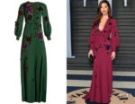 Olivia Munn's Andrew Gn Floral-Appliqué Crepe Gown