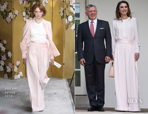 9d80eb7a220 Queen Rania of Jordan brought her elegant style to the White House on  Monday (June 25), where she was joined by her husband King Abdullah II in  Washington, ...