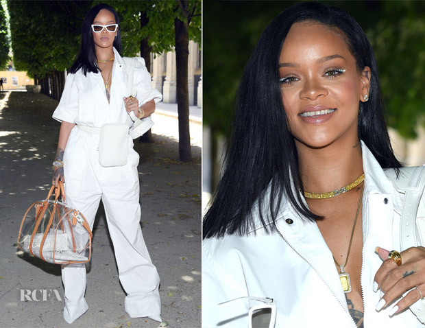 Rihanna In Louis Vuitton - Louis Vuitton Spring 2019 Menswear Show