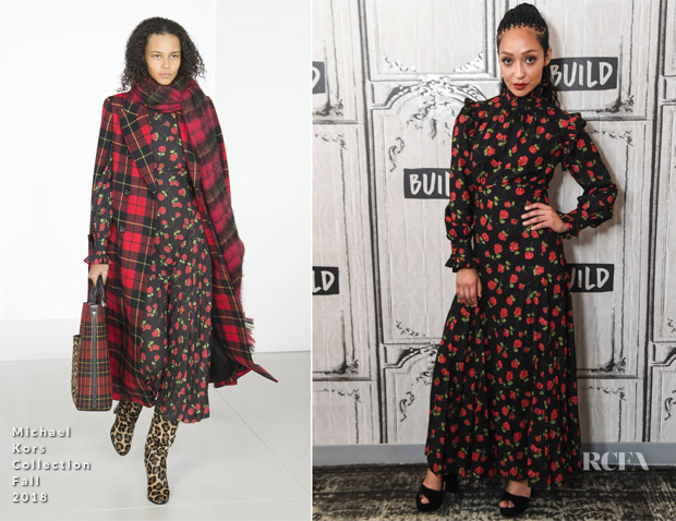 Ruth Negga In Michael Kors Collection - Build Series:  'Preacher'