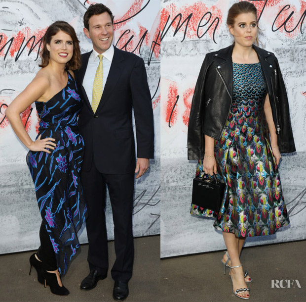 Princess Eugenie In Roland Mouret & Princess Beatrice In Mary Katrantzou - Serpentine Summer Party 2018